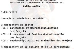 Certificats IUFIC 2021-2022