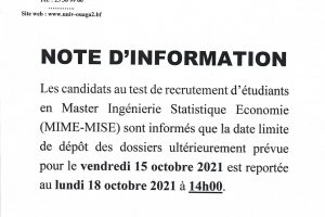 Note d'information report MIME-MISE